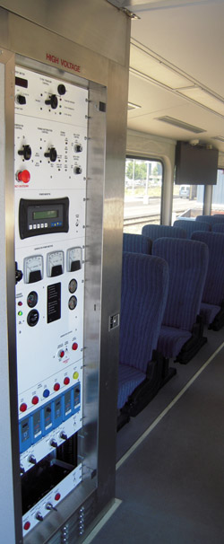 Northwest Rail Electric Locker Package in a Passenger Car